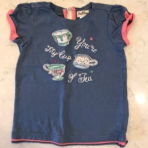 "Hatley ""You're my cup of tea"" shirt- size 3T"